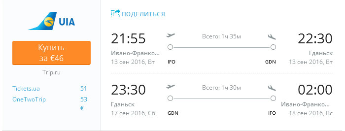 Івано-Франківськ---Гданськ