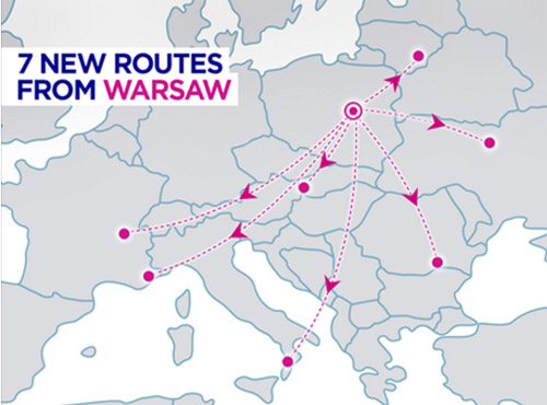 Нові маршрути WizzAir з Варшави
