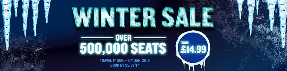 Ryanair winter sale