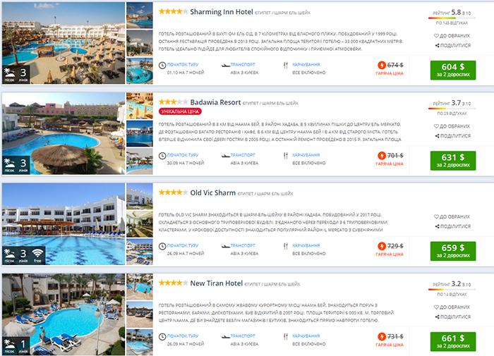Гарячі тури в Єгипет