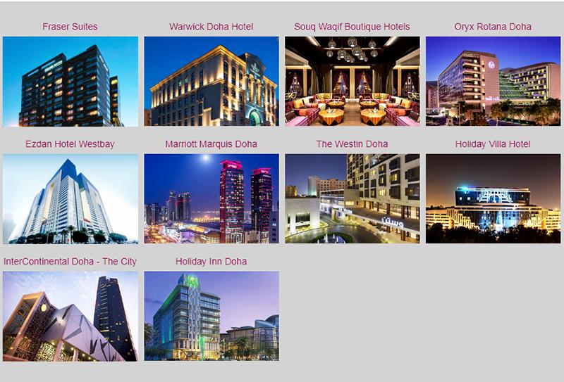 Готелі-партнери Qatar Airways у місті Доха: