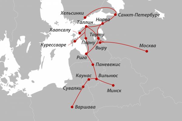 LuxExpress карта маршрутів