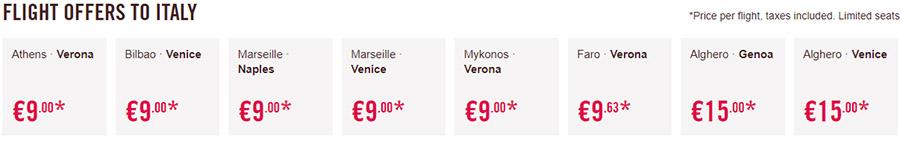 Дешеві авіаквитки в Італію: