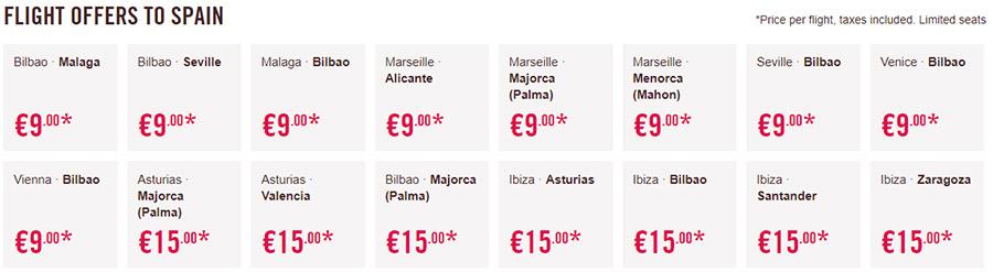 Акційні тарифи Волотеа у Іспанію