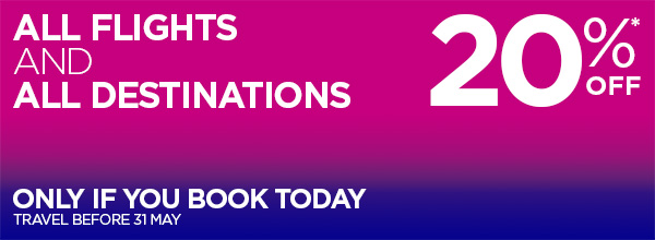 Wizz Air April 20% Off sale