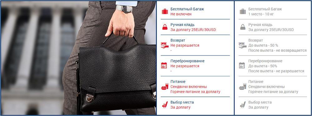 Buta Airlines багажні правила