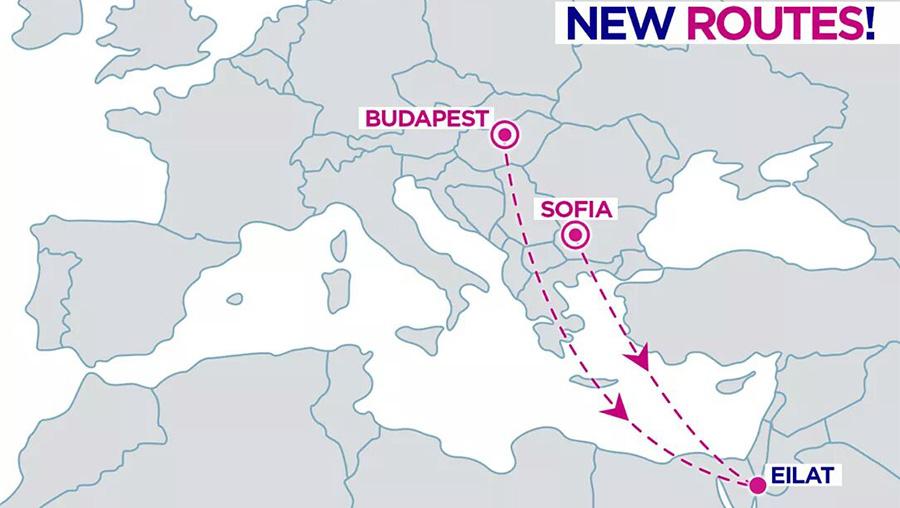 Нові рейси Wizz Air в Ейлат