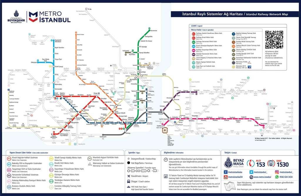 Схема метро Стамбула, натисніть для збільшення