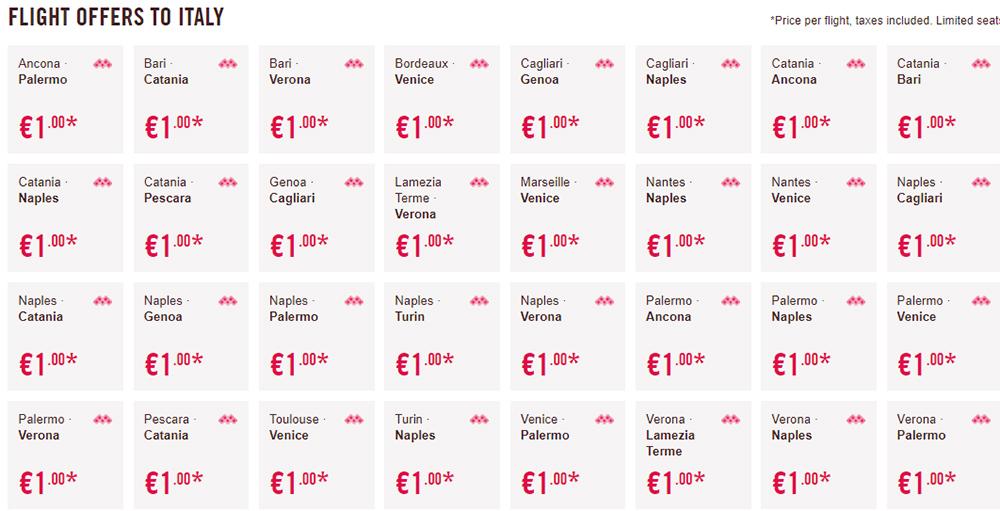 Дешеві квитки в Італію