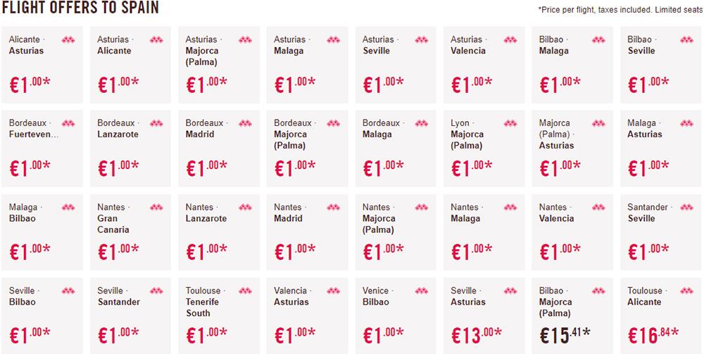 Акційні перельоти в Іспанію: