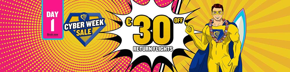 Розпродаж Ryanair Cyber Day 1