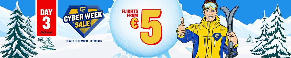 Третій день розпродажу Ryanair Cyber Week