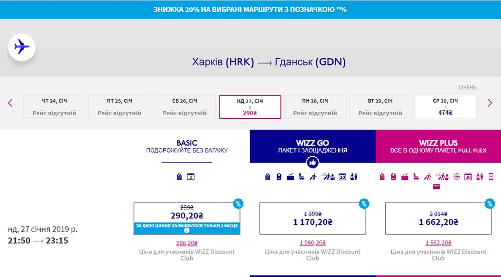 Авіаквитки Харків - Гданськ на зі знижкою