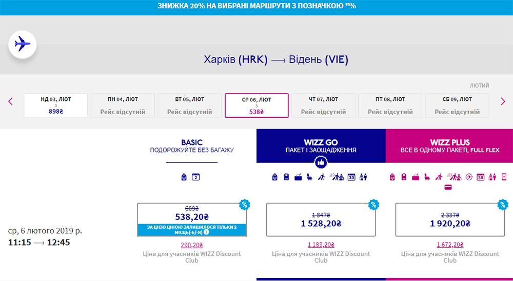 Квитки Харків - Відень