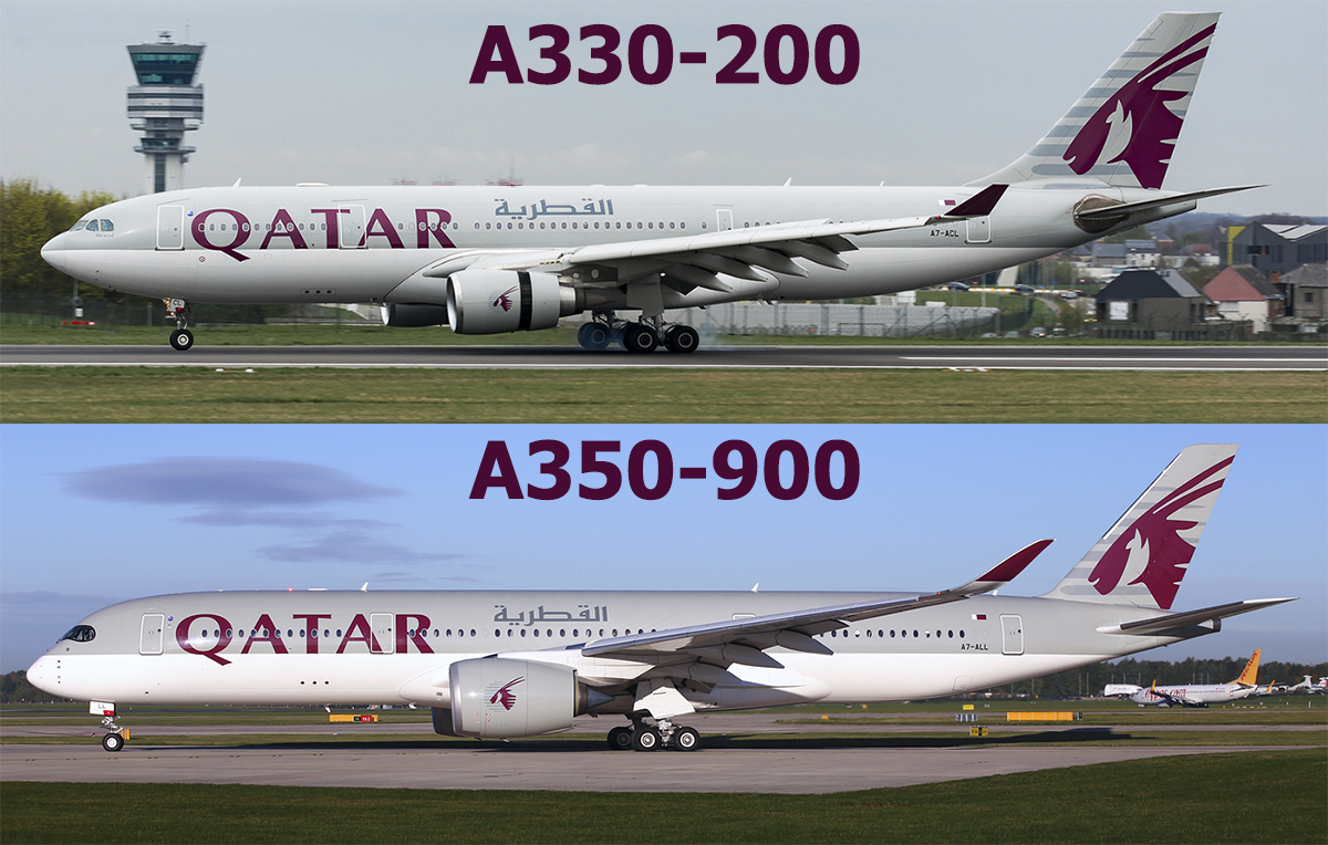 Qatar Airways Airbus A330 & A350