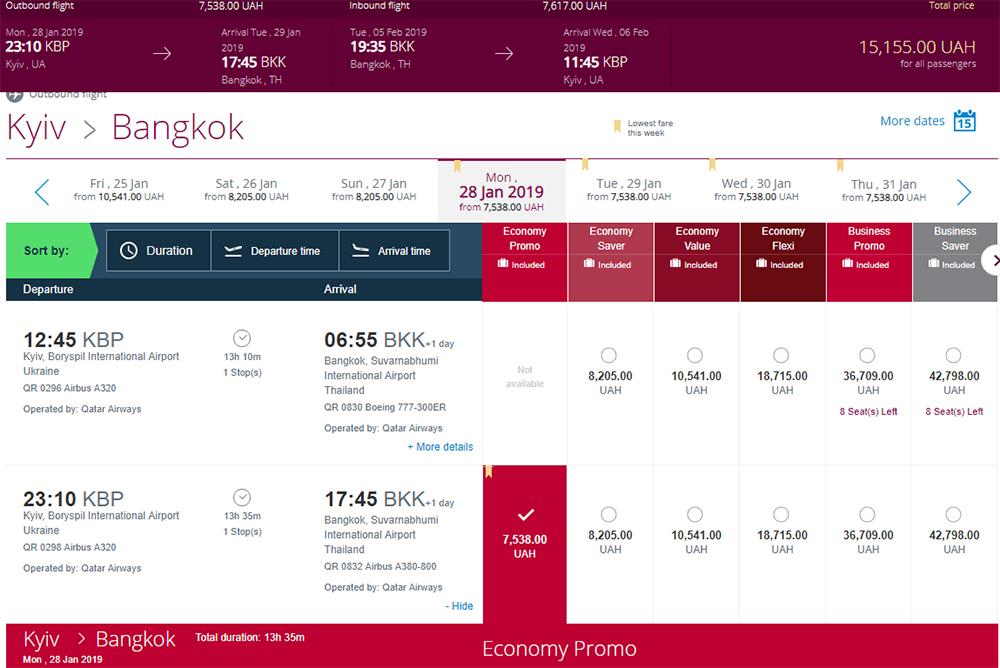 Авіаквитки Київ - Бангкок - Київ