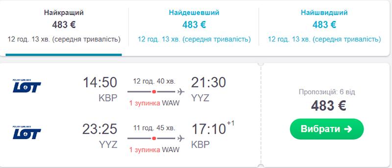 Київ - Торонто - Київ