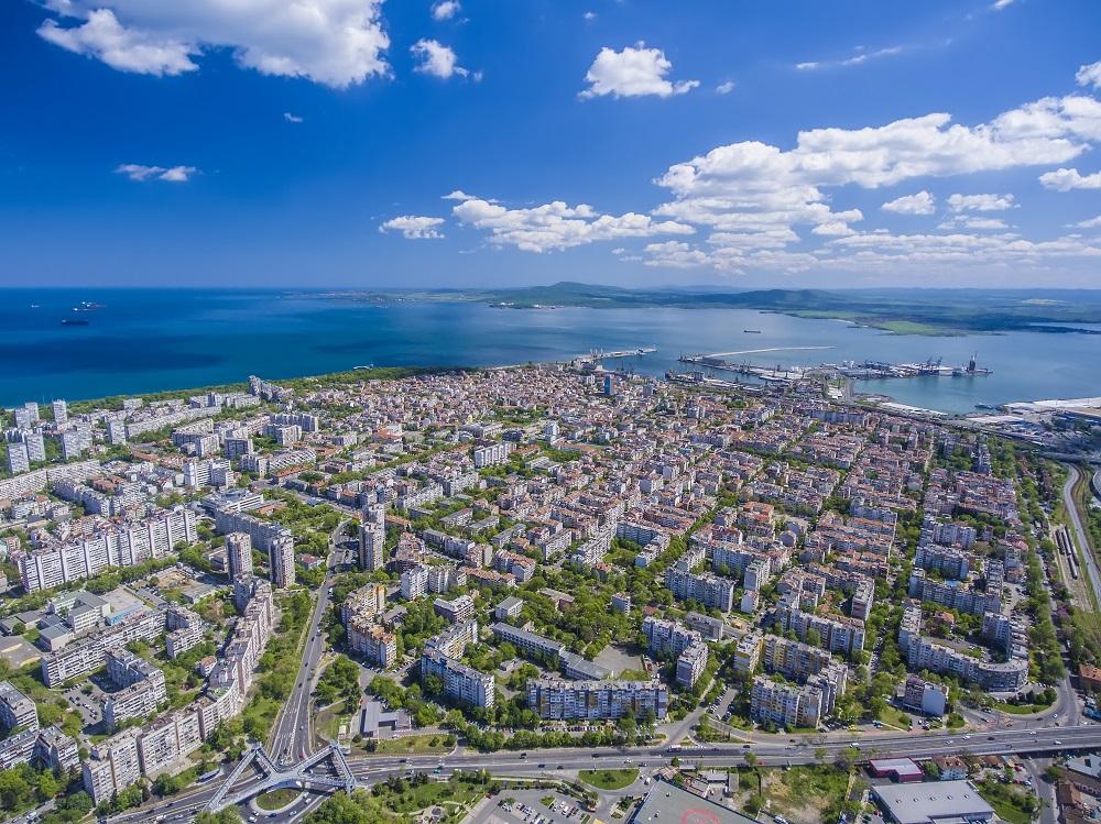 burgas bulgaria panorama