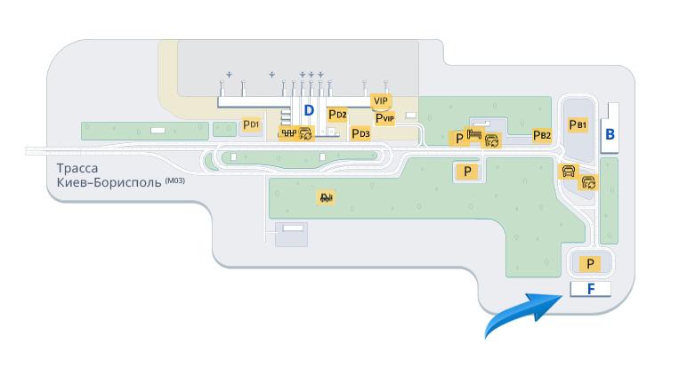 Карта аеропорту Бориспіль Термінал F