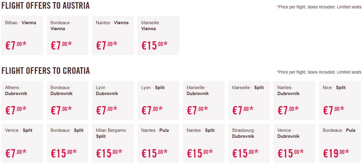 Акційні пропозиції на перельоти в Австрію та Хорватію