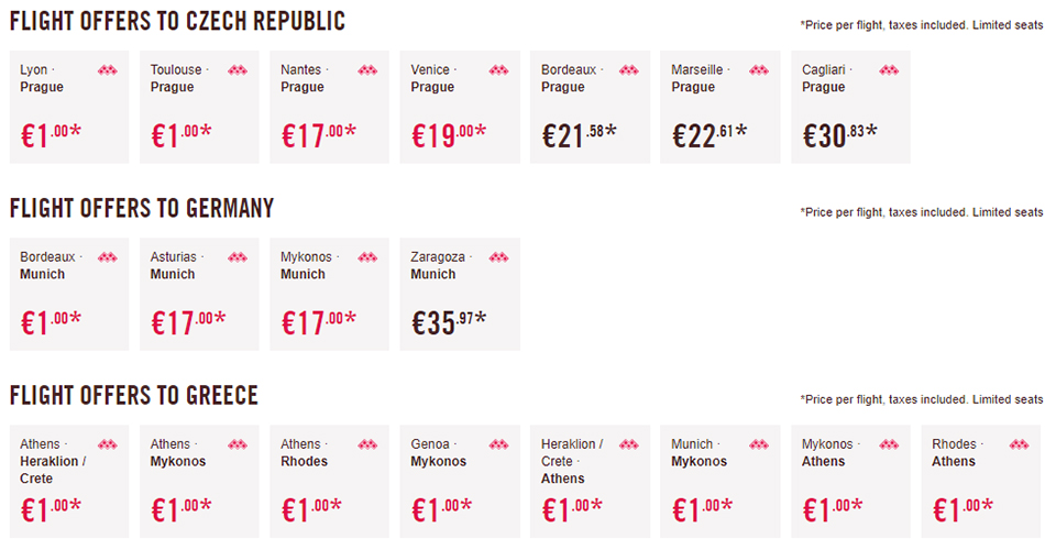 Акційні пропозиції в Чехію, Німеччину та Грецію