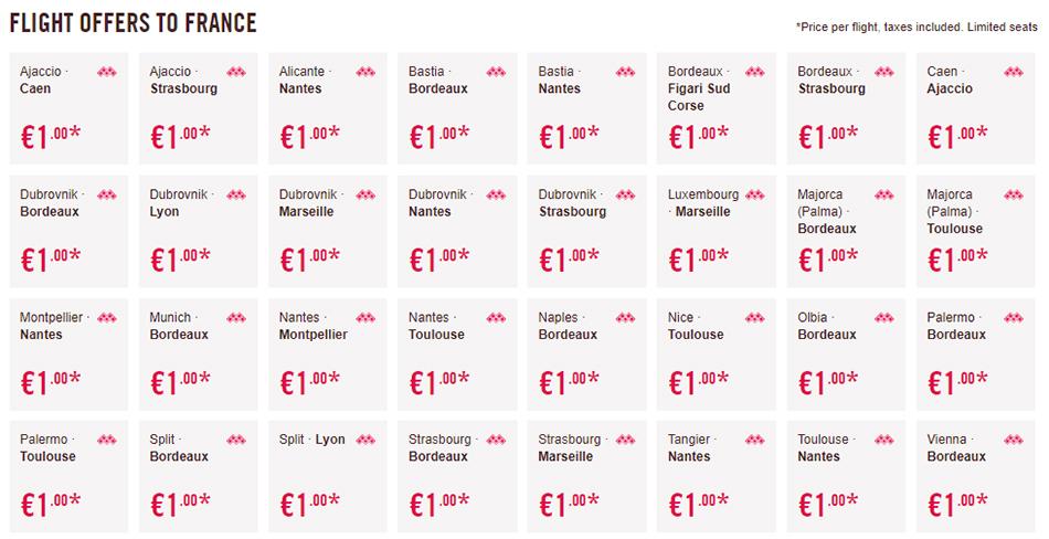 Дешеві перельоти у Францію