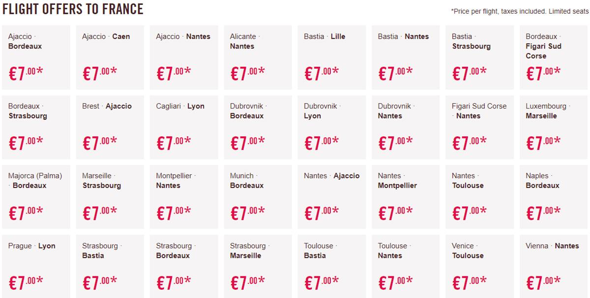 Акційні пропозиції на перельоти у Францію