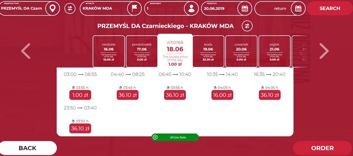 Дешеві квитки на травневу подорож Перемишль - Краків на сайті Neobus