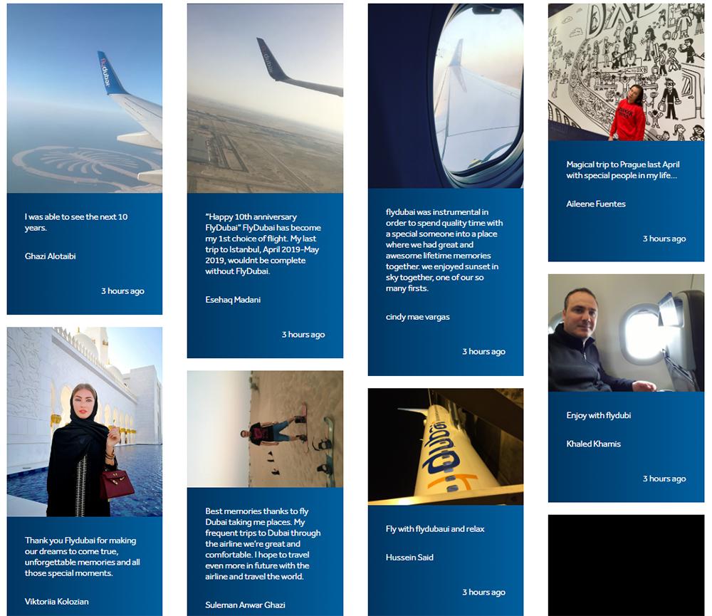 Приклади історій мандрівників на сайті flyDubai