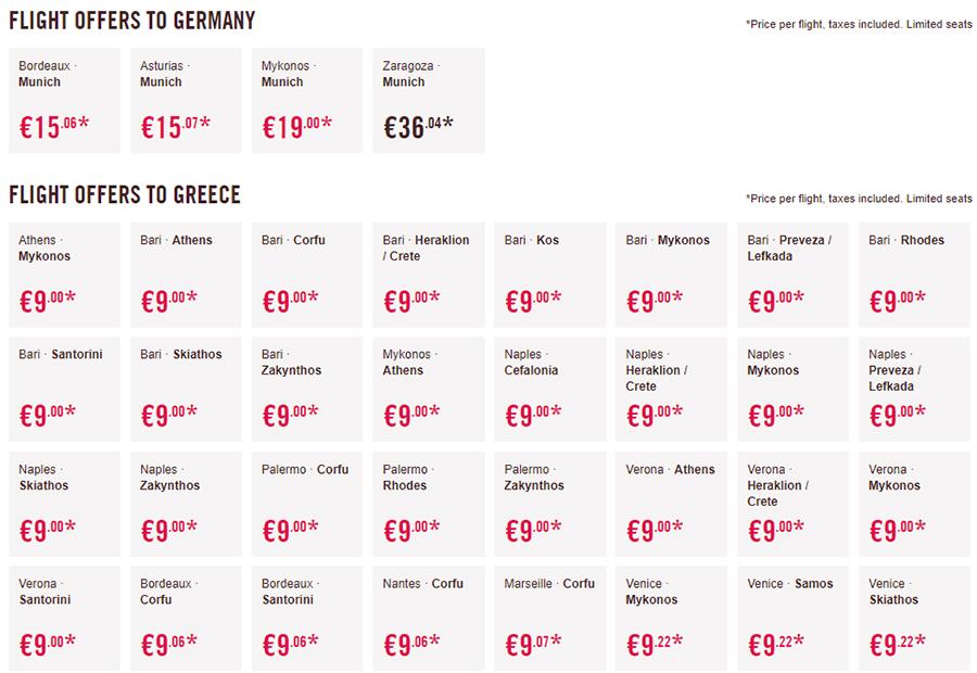 Дешеві авіаквитки у Німеччину та Грецію