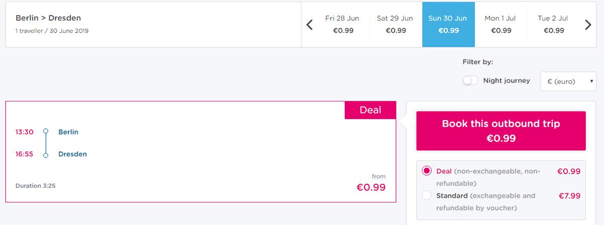 Автобусні квитки з Берліну в Дрезден на сайті BlaBlaBus (Ouibus)