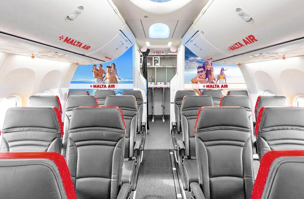Рендер салону літака Malta Air