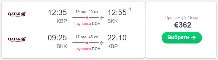 Квитки Київ - Бангкок - Київ від€362 на сайті SkyScanner