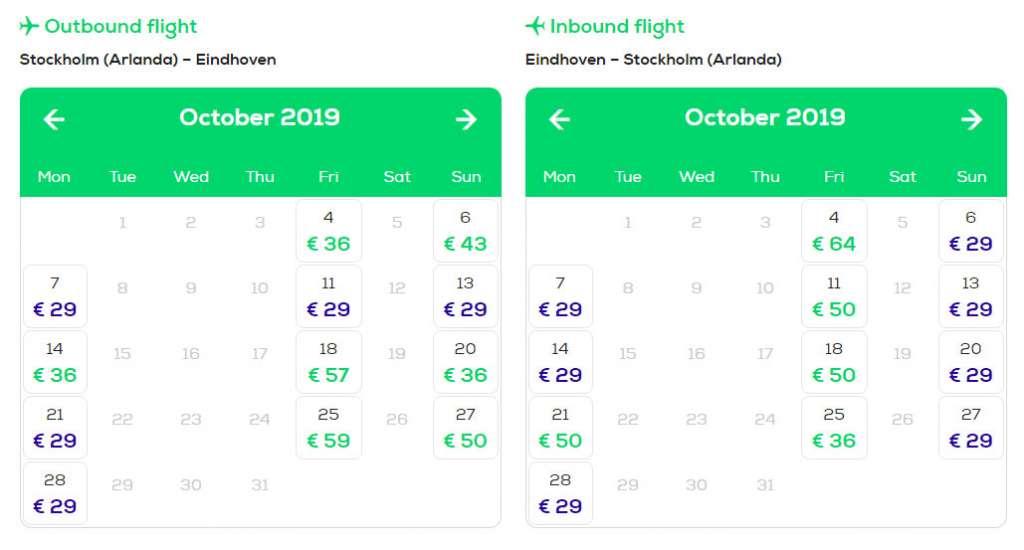 Трансавіа, дешеві рейси з Стокгольма в Ейндховен