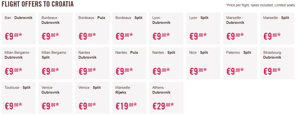 Лоукост-авіаквитки в Хорватію