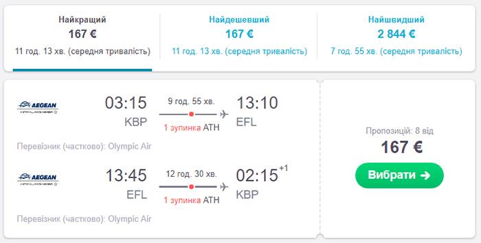Київ - Кефалонія - Київ від €167