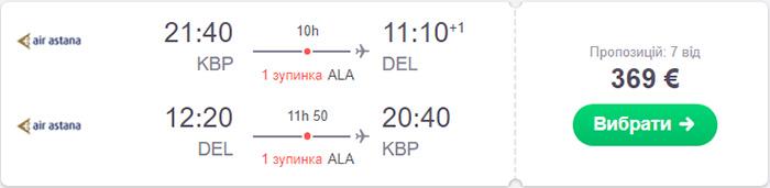 Київ - Делі - Київ від €369