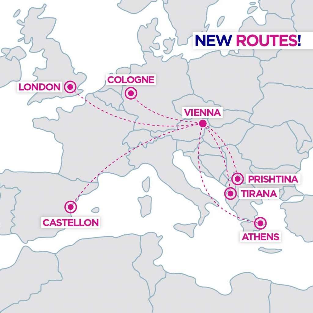 Wizz Air Відень напрямки