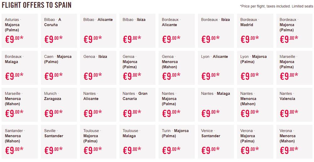 Дешеві авіаквитки Volotea в Іспанію
