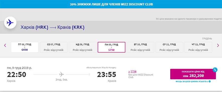 Дешеві квитки із Харкова в Краків