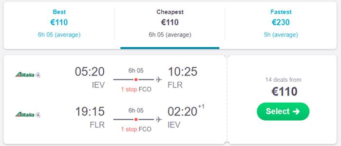 Київ - Флоренція- Київ від €108