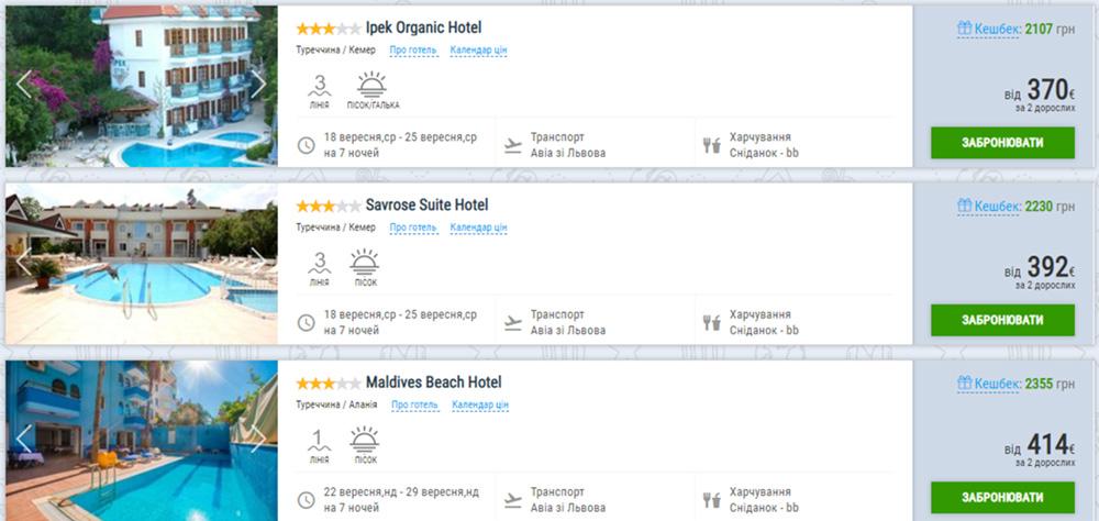 Пакетний тур в Туреччину з сніданками зі Льова (ціна вказана на 2-х осіб)