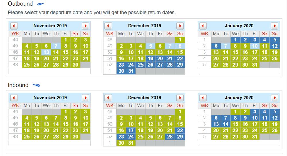 Календар цін на рейс Austrian Київ - Відень
