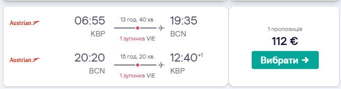 З Києва в Барселону з Austrian