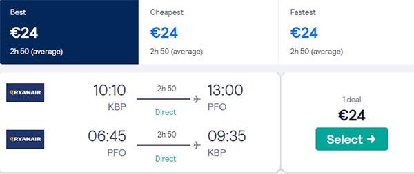 Київ - Пафос - Київ від €23.9
