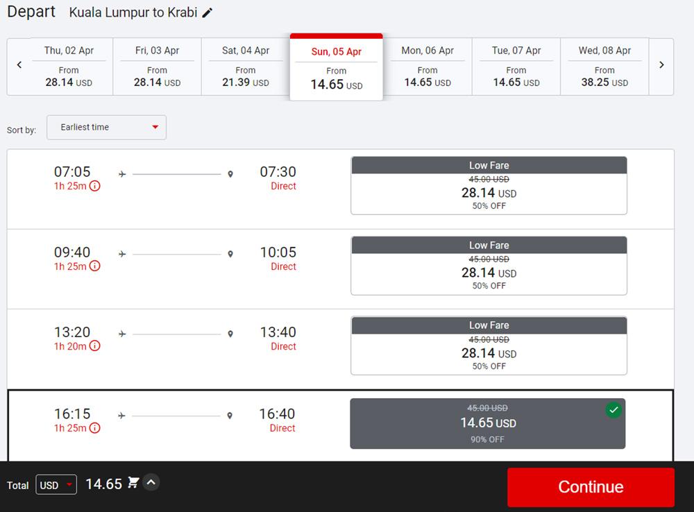 Акційні квитки Куала-Лумпур - Крабі