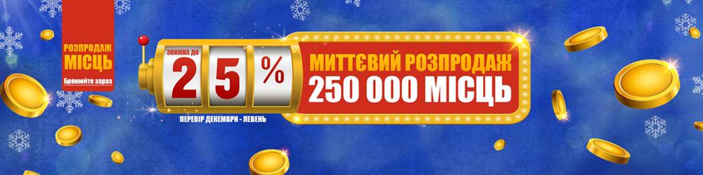 Розпродаж Ryanair 250 тисяч квитків