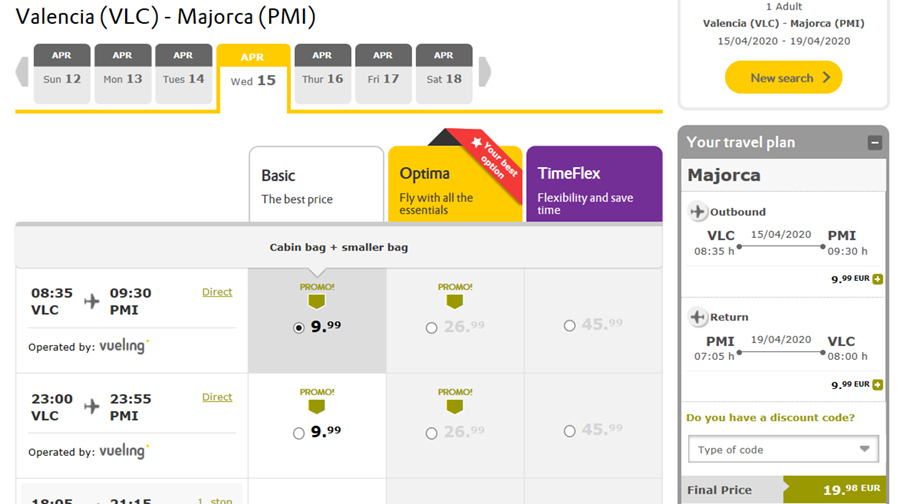 Дешеві авіаквитки із Валенсії на Пальму-де-Майорку в квітні: