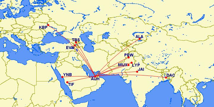 Air Arabia Abu Dhabi Routes