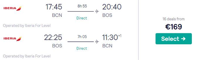 Барселона - Бостон - Барселона від €169
